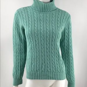 Tommy Hilfiger Teal Cotton Sweater